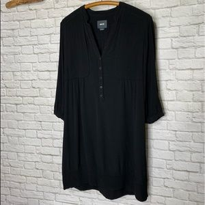 Maeve Anthropologie Pretty LS Black Dress Size 8